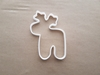 Reindeer Caribou Deer Xmas Shape Cookie Cutter Dough Biscuit Fondant Sharp Stencil Animal Mammal Christmas Moose