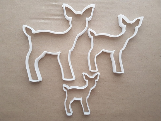 Baby Deer Faun Elk Moose Shape Cookie Cutter Dough Biscuit Pastry Fondant Sharp Stencil Xmas Christmas Animal Mammal