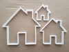 House Home Building Shape Cookie Cutter Dough Biscuit Pastry Fondant Sharp Stencil
