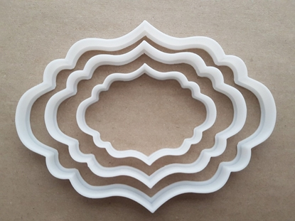 Plaque Mirror Frame Vintage Shape Cookie Cutter Dough Biscuit Fondant Sharp Stencil Name Prize Award