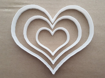 Heart Love Couple Shape Cookie Cutter Dough Biscuit Pastry Fondant Sharp Stencil Wedding Valentine's Day Loveheart