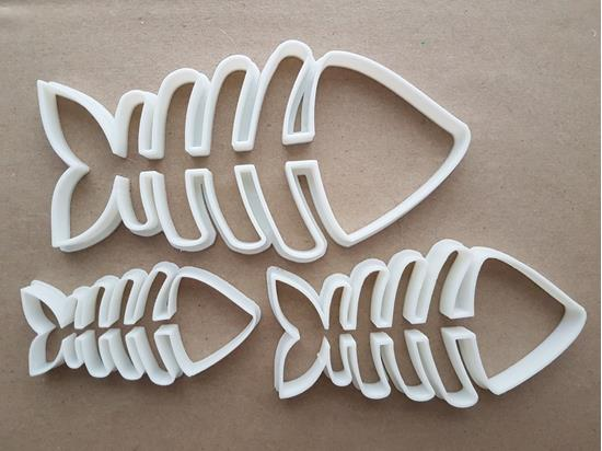 Fish Bones Skeleton Sea Shape Cookie Cutter Dough Biscuit Pastry Fondant Sharp Food Stencil Animal Fishbones