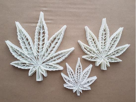 Cannabis Ganja Hemp Leaf Shape Cookie Cutter Dough Biscuit Pastry Fondant Sharp Stencil Plant Medicinal Marijuana