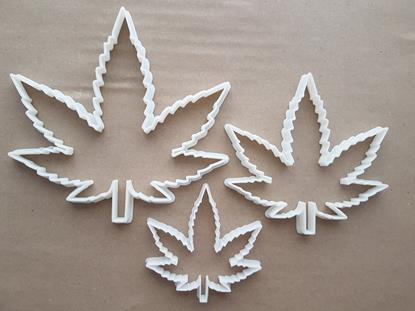 Cannabis Leaf Ganja Hemp Plant Shape Cookie Cutter Dough Biscuit Fondant Sharp Stencil Medicinal Marijuana