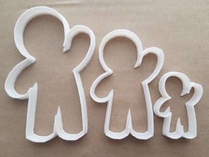 Ginger Bread Man Boy Shape Cookie Cutter Dough Biscuit Pastry Fondant Sharp Stencil Gingerbread Person Xmas Christmas Food