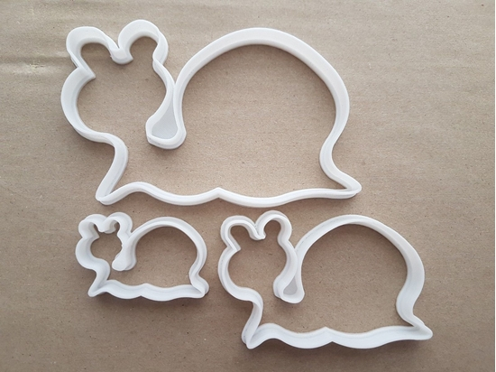 Snail Insect Bug Shell Shape Cookie Cutter Dough Biscuit Pastry Fondant Sharp Stencil Animal