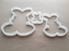 Rabbit Bunny Cute Hare Shape Cookie Cutter Dough Biscuit Pastry Fondant Sharp Stencil Animal Mammal