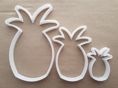 Pineapple Fruit Food Shape Cookie Cutter Dough Biscuit Pastry Fondant Sharp Stencil Plant Summer Piña Colada