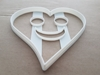 Smiley Heart Happy Face Shape Cookie Cutter Dough Biscuit Pastry Fondant Sharp Stencil Happy Smile Cute Valentine's Day Wedding