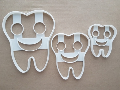 Smiley Tooth Happy Teeth Shape Cookie Cutter Dough Biscuit Pastry Fondant Sharp Stencil Dentist Smile Cute