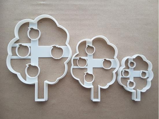 Apple Tree Plant Fruit Shape Cookie Cutter Dough Biscuit Pastry Fondant Sharp Stencil Food Autumn Fall