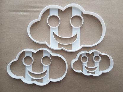 Smiley Cloud Weather Shape Cookie Cutter Dough Biscuit Pastry Fondant Sharp Stencil Cute Happy Face Smile Rain