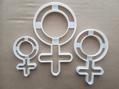 Female Symbol Sex Venus Shape Cookie Cutter Dough Biscuit Pastry Fondant Sharp Stencil Gender Women Girls Ladies