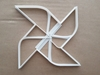 Pinwheel Catherine Wind Toy Shape Cookie Cutter Dough Biscuit Fondant Sharp Pin Wheel Stencil Origami Japanese Japan