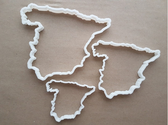 Spain Map Country Spanish Shape Cookie Cutter Dough Biscuit Pastry Fondant Sharp Atlas Outline Stencil