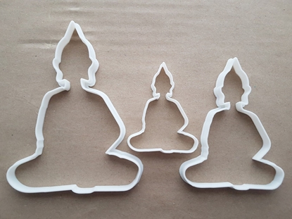 Buddha Statue Pray Faith Shape Cookie Cutter Dough Biscuit Pastry Fondant Sharp Stencil Buddhism Buddhist Spiritual Religion