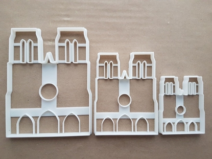 Notre Dame Paris Cathedral France Church Shape Cookie Cutter Dough Fondant Sharp Stencil French