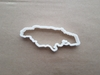 Jamaica Country Map Shape Cookie Cutter Dough Biscuit Pastry Fondant Sharp Stencil Outline Atlas Jamaican Island