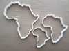 Africa Map Continent Shape Cookie Cutter Dough Biscuit Pastry Fondant Sharp African Stencil Atlas Outline