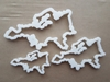 Europe Map Continent Shape Cookie Cutter Dough Biscuit Pastry Fondant Sharp Atlas Outline Stencil