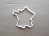 France Country Map Atlas Shape Cookie Cutter Dough Biscuit Pastry Fondant Sharp Stencil Outline French