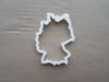 Germany Country Map Shape Cookie Cutter Dough Biscuit Pastry Fondant Sharp Stencil Atlas Outline