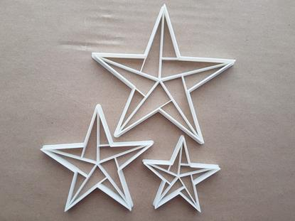 Origami Star Paper Fold Shape Cookie Cutter Dough Biscuit Pastry Fondant Sharp Stencil Japanese Japan Folding