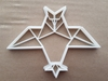 Origami Owl Paper Bird Shape Cookie Cutter Dough Biscuit Pastry Fondant Sharp Stencil Animal Japanese Folding Japan