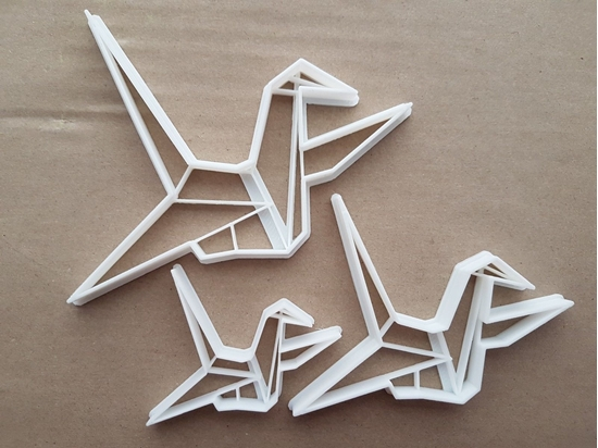 Origami Crane Paper Fold Shape Cookie Cutter Dough Biscuit Pastry Fondant Sharp Stencil Folding Bird Animal Japanese Japan Swan