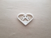 Heart Paw Pet Love Print Shape Cookie Cutter Dough Biscuit Pastry Fondant Sharp Stencil Dog Cat Animal