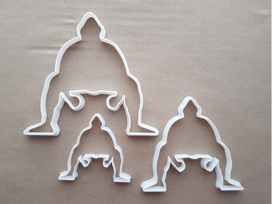Sumo Wrestler Fighter Shape Cookie Cutter Dough Biscuit Pastry Fondant Sharp Stencil Japanese Japan Sport