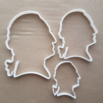 George Washington Profile People Shape Cookie Cutter Dough Biscuit Fondant Sharp Stencil President America USA United States of America Head