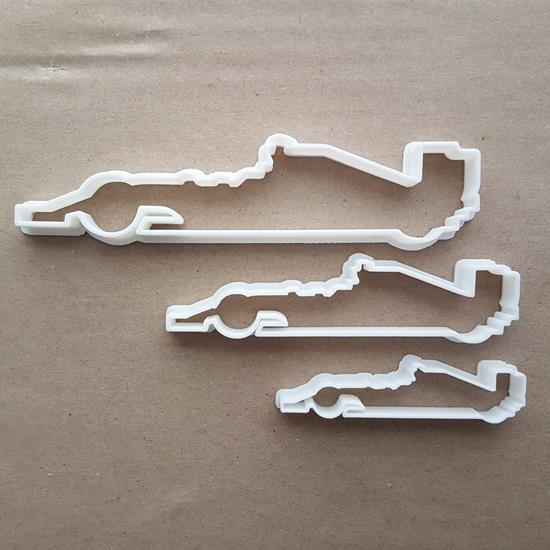 Formula One Race Car F1 Shape Cookie Cutter Dough Biscuit Pastry Fondant Sharp Stencil Racing Vehicle Fast Sports Automobile