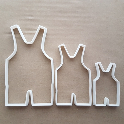 Dungarees Baby Clothes Shape Cookie Cutter Dough Biscuit Pastry Fondant Sharp Stencil Shower Toddler Romper Suit Christening