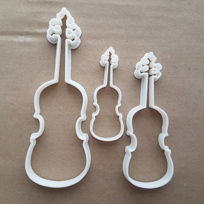 Violin Fiddle Instrument Shape Cookie Cutter Dough Biscuit Pastry Fondant Sharp Stencil Musical Music String