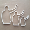 Martin Luther King Silhouette People Shape Cookie Cutter Dough Fondant Sharp Stencil MLK American Famous Person Civil Rights Profile Dream