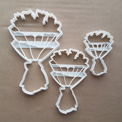Flowers Bouquet Bunch Of Shape Cookie Cutter Dough Biscuit Pastry Fondant Sharp Stencil Valentine's Day Wedding Spring Floral