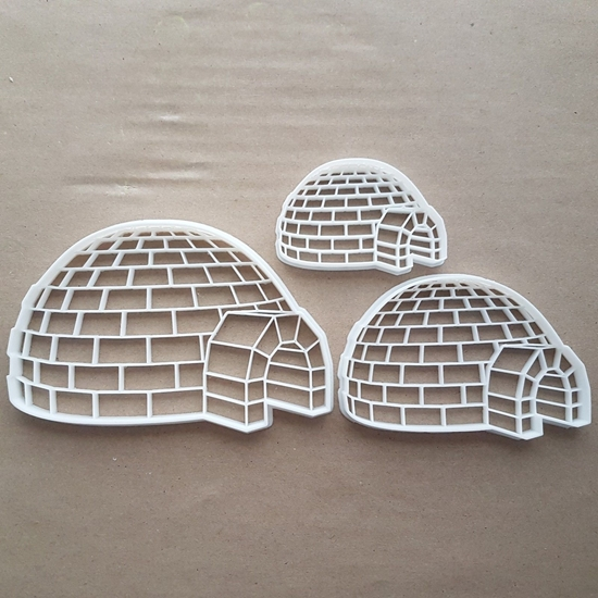 Igloo Snow House Hut Ice Shape Cookie Cutter Dough Biscuit Pastry Fondant Sharp Stencil Home Eskimo Arctic