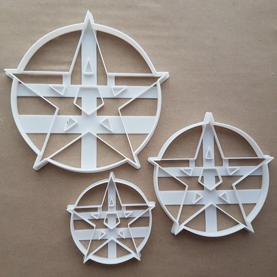 Pentacle Pentagram Amulet Shape Cookie Cutter Dough Biscuit Pastry Fondant Sharp Stencil Icon Symbol Star Wikka Wikkan