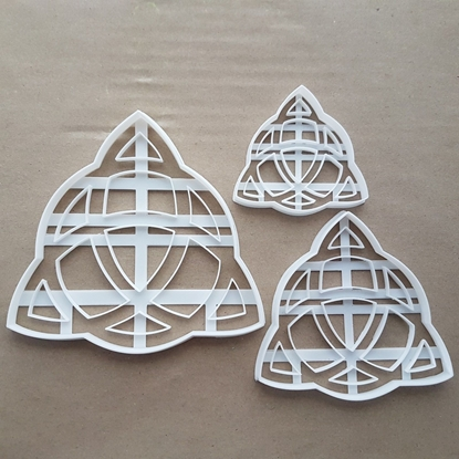 Triquetra Celtic Knot Shape Cookie Cutter Dough Biscuit Pastry Fondant Sharp Stencil Symbol
