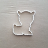 Baby Llama Alpaca Sheep Shape Cookie Cutter Dough Biscuit Pastry Fondant Sharp Stencil Animal Woolly Mammal Cute