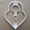 Heart Padlock Love Couple Shape Cookie Cutter Dough Biscuit Pastry Fondant Sharp Wedding Valentine's Day Loveheart Lock