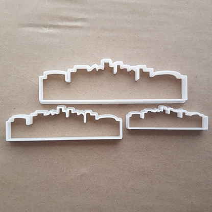 City Skyline Shanghai Shape Cookie Cutter Dough Biscuit Pastry Fondant Sharp Stencil China Horizon Sky Buildings Silhouette