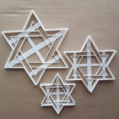 Star Of David Hebrew Shield Judaism Shape Cookie Cutter Dough Fondant Sharp Stencil Religious Religion Spiritual