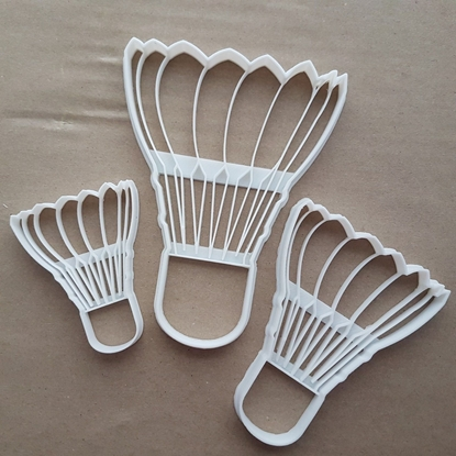 Shuttlecock Badminton Sport Shape Cookie Cutter Dough Biscuit Fondant Sharp Stencil Game Court