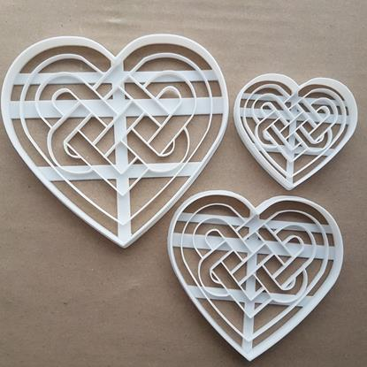 Celtic Heart Love Irish Welsh Shape Cookie Cutter Dough Biscuit Fondant Sharp Stencil Gallic Symbol Valentine's Day Wedding