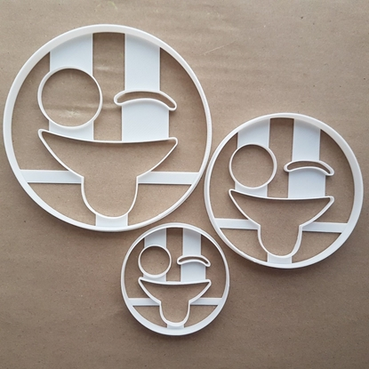 Emoji Laugh Tongue Wink Shape Cookie Cutter Dough Biscuit Pastry Fondant Sharp Stencil Emoticon Icon Symbol Face Laughing