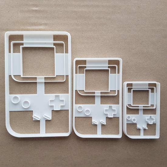 Gameboy Handheld Console Shape Cookie Cutter Dough Biscuit Pastry Fondant Sharp Stencil Game Boy Video Controller