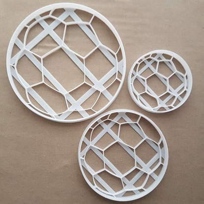 Football Sport Play Shape Cookie Cutter Dough Biscuit Pastry Fondant Sharp Stencil Foot Ball Game Soccer