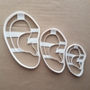 Ear Body Part Human Shape Cookie Cutter Dough Biscuit Pastry Fondant Sharp Stencil Medical
